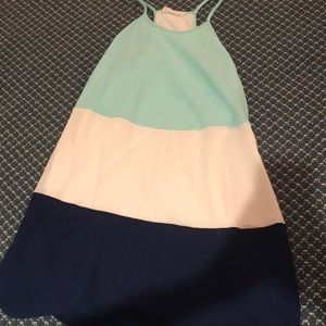 A-line color block dress